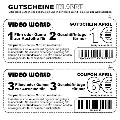 gutschein video world